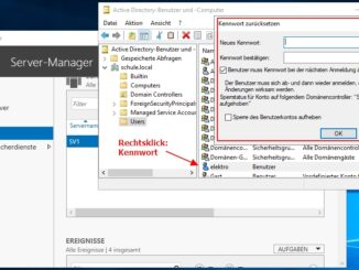 Passwort Des Active Directory Benutzers über Die Active Directory Benutzer Und Gruppenverwaltung Zurücksetzen