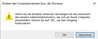 Windows Server Aus Einer Domäne Entfernen Lokales Administrator Passwort Eingeben