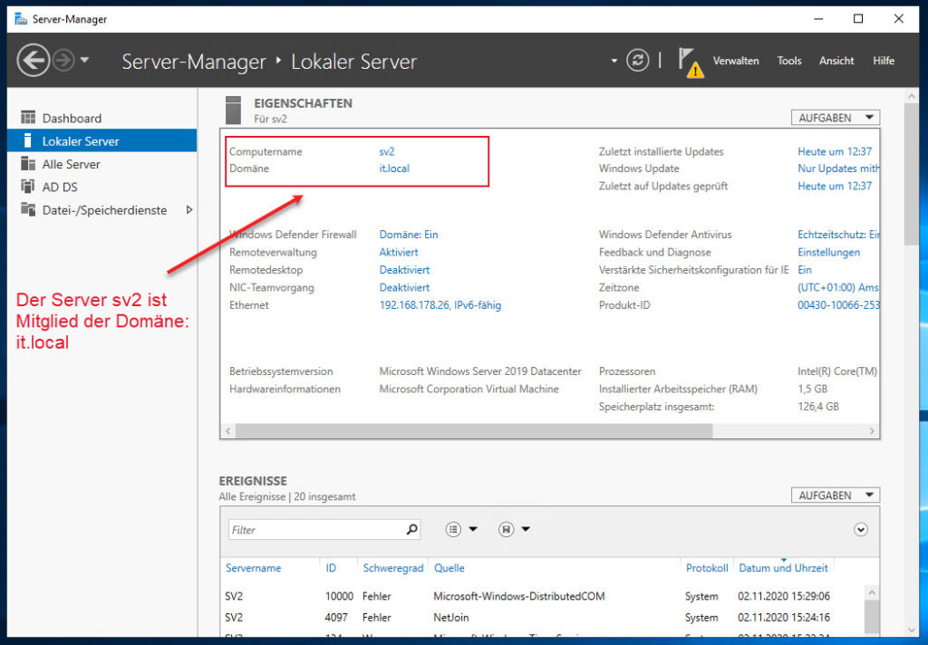 Windows Server Aus Einer Domäne Entfernen über Den Server Manager
