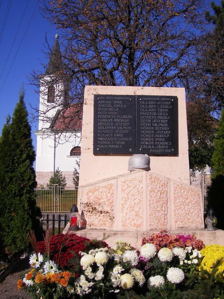 A 2. világháború balonyi áldozatainak emlékműve