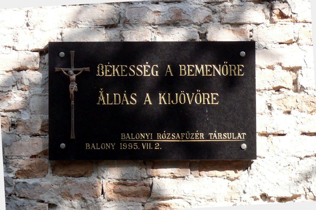 Balonyi Sarlós Boldogasszony római katolikus templom