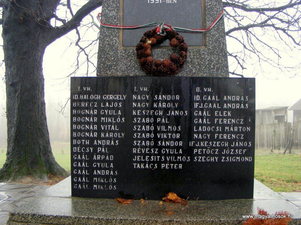 Az 1. és 2. világháború kulcsodi hőseinek emlékműve