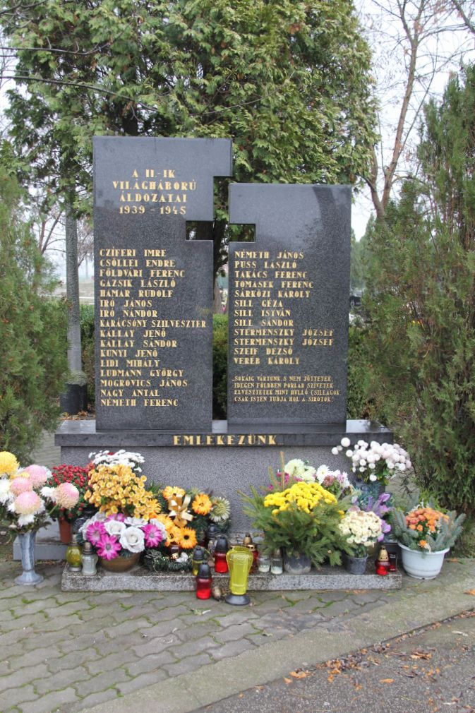 A 2. világháború áldozatainak emlékműve