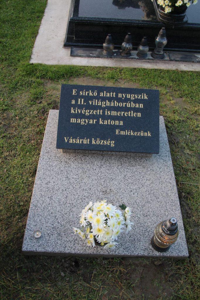 A 2. világháborúban kivégzett ismeretlen magyar katona sírja