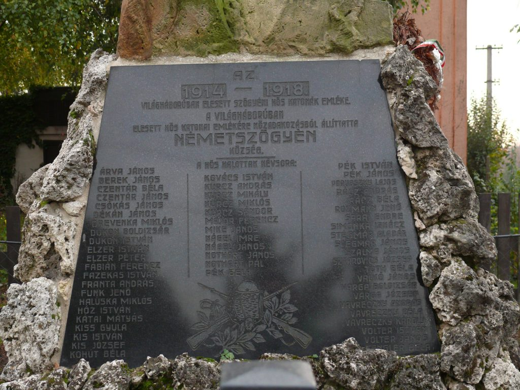 Első világháborús emlékmű
