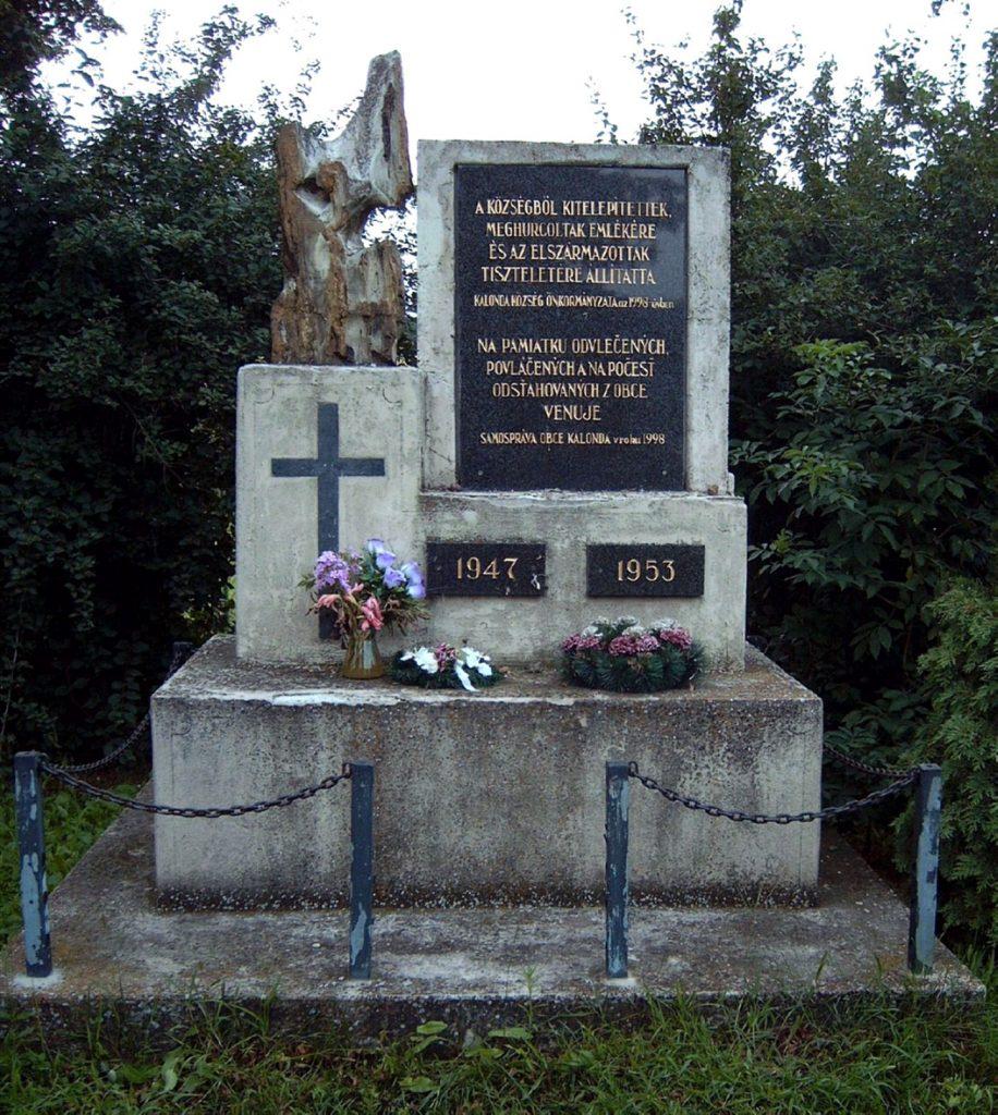 Kitelepítettek emlékműve Kalondán
