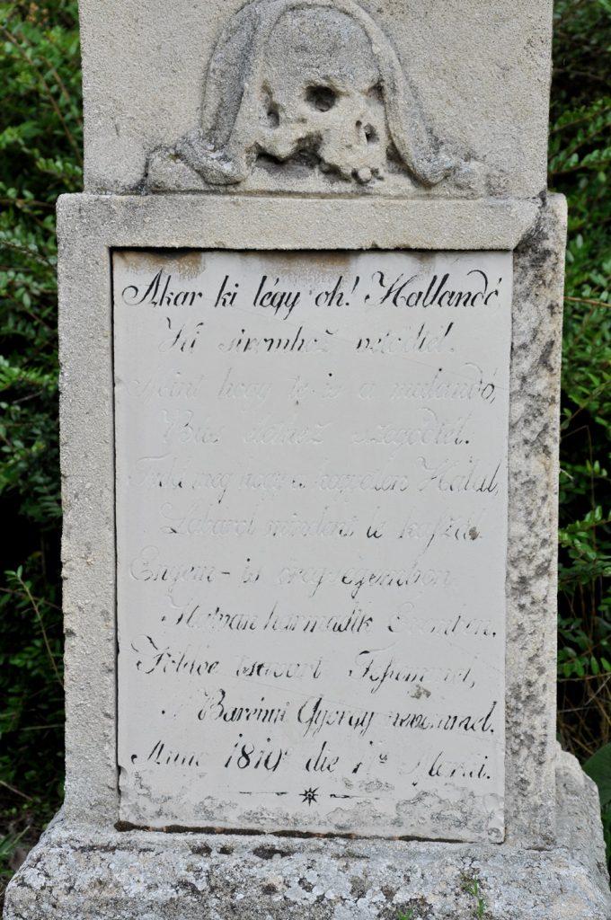 A nagyszarvai temető sírjai