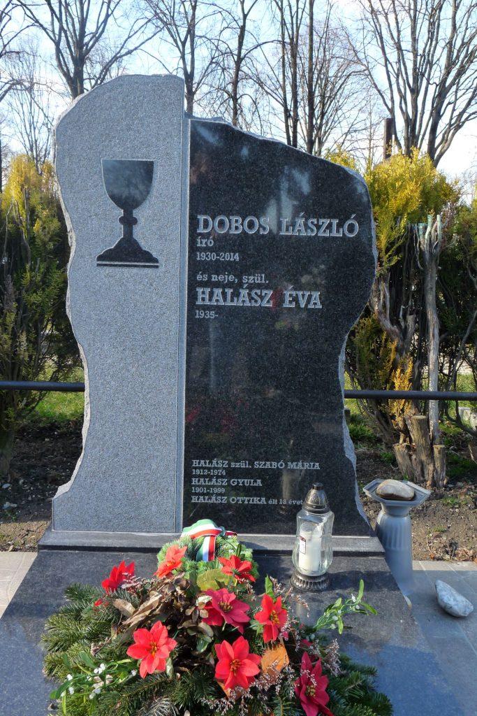 Dobos László, író síremléke