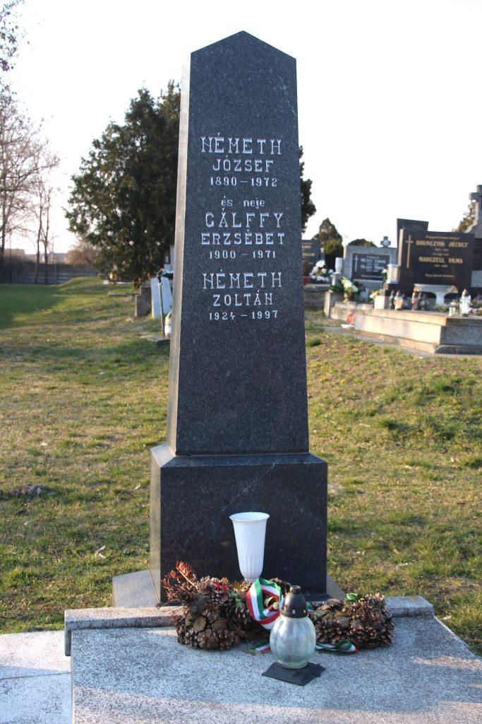 Németh Gergely, az 1848-49-i szabadságharc bajnokának sírja