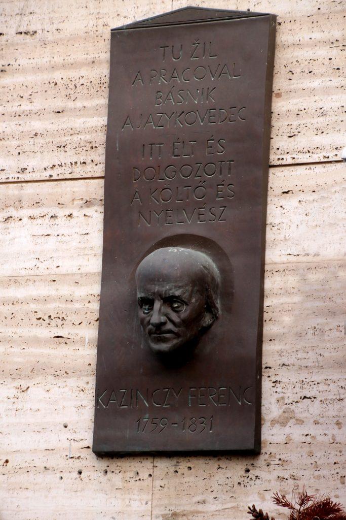 Kazinczy Ferenc emléktáblája