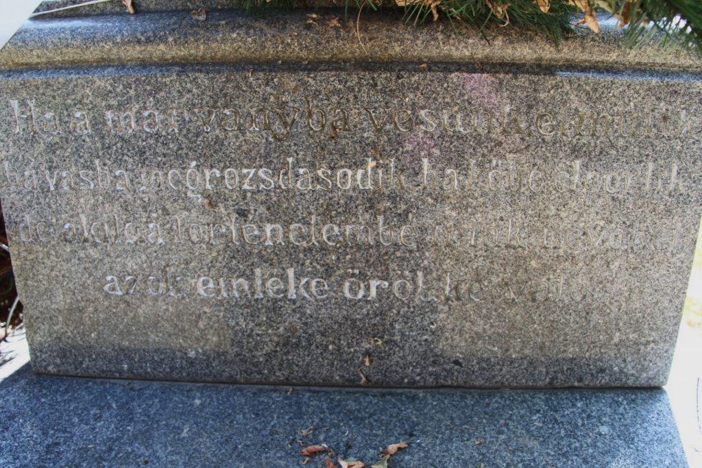 Az I. világháború református és zsidó áldozatainak emlékműve