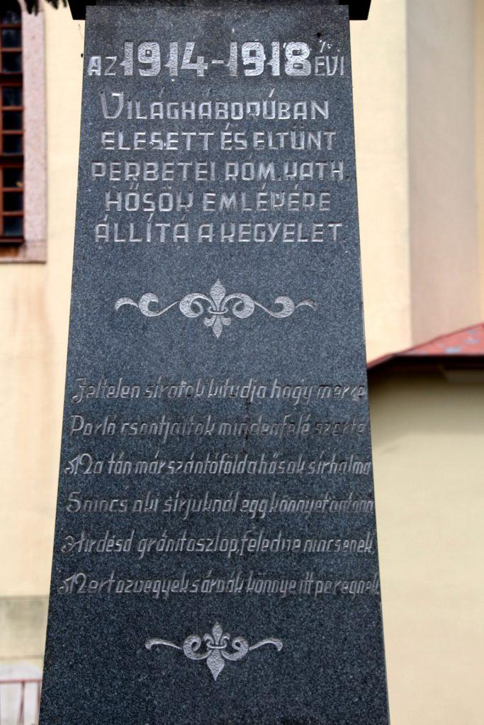 Az első világháború katolikus áldozatainak emlékműve