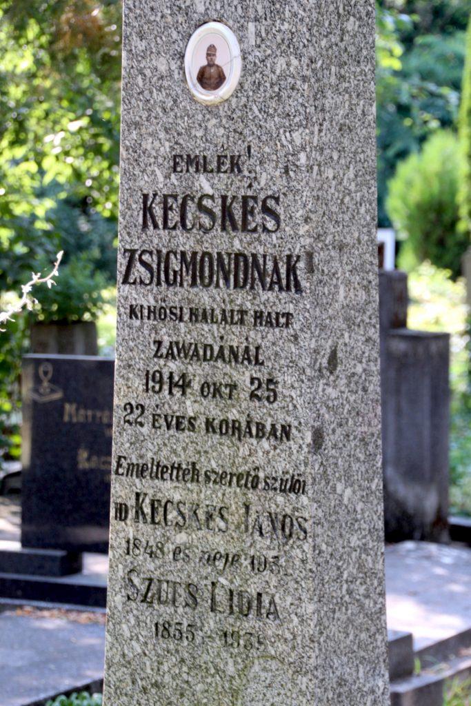 Kecskés Zsigmond, az 1. világháború hősi halottjának emlékjele