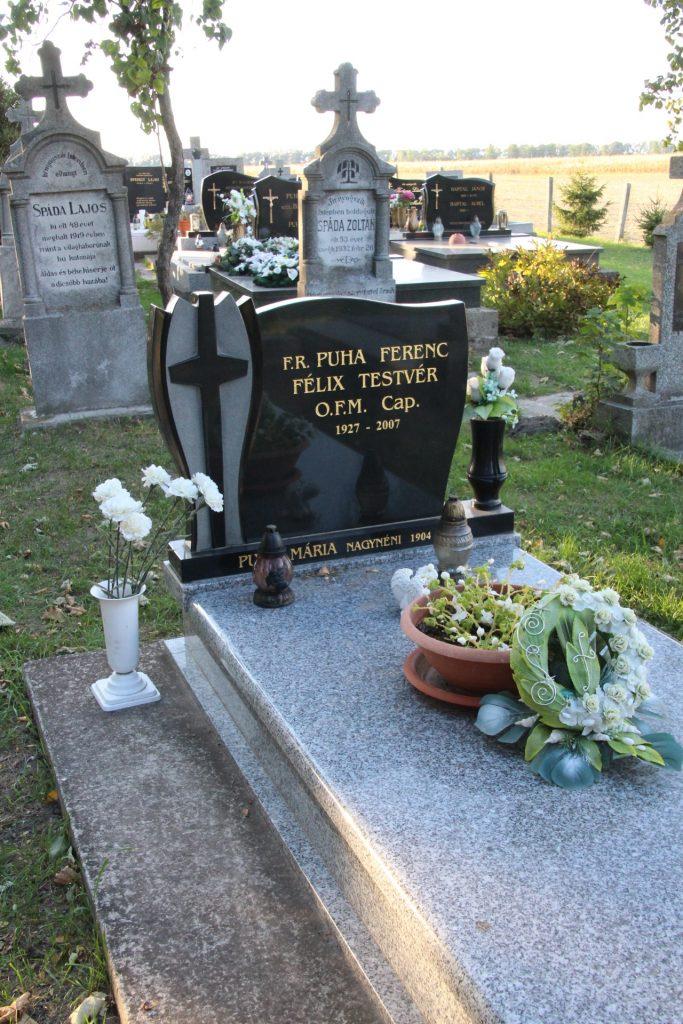 Puha Ferenc, Félix testvér sírja