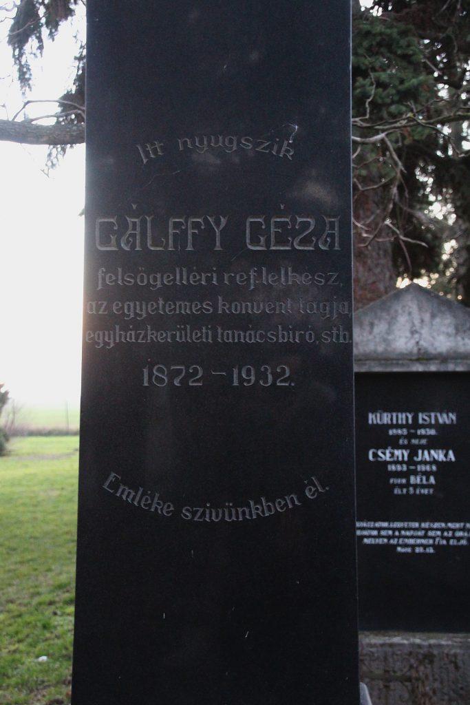 Gálffy Géza református lelkész