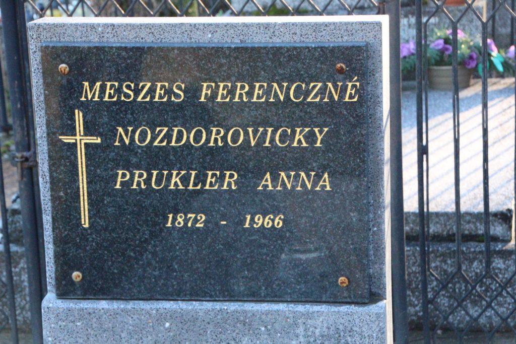 Meszes Ferencné sírja