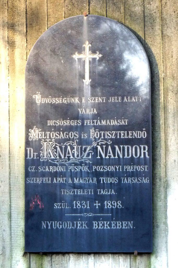 Knauz Nándor síremléke