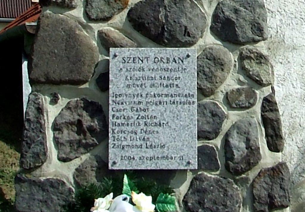 A zsobráki Szent Orbán szobor