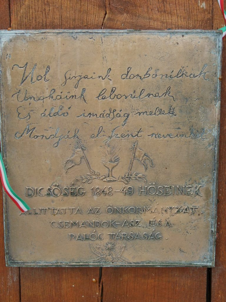 Az 1848-as hősök emlékkeresztje