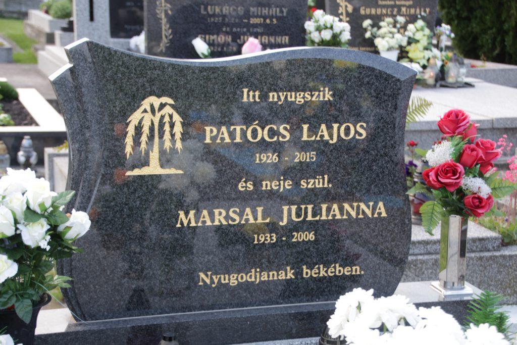 Patócs Lajos sírja