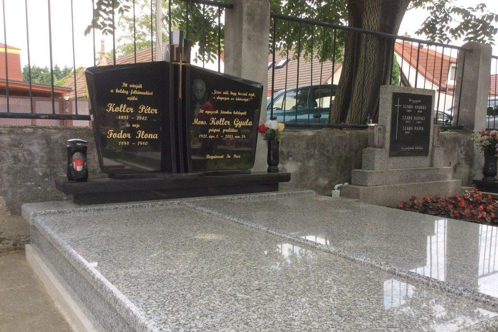 Koller Gyula pápai prelátus síremléke
