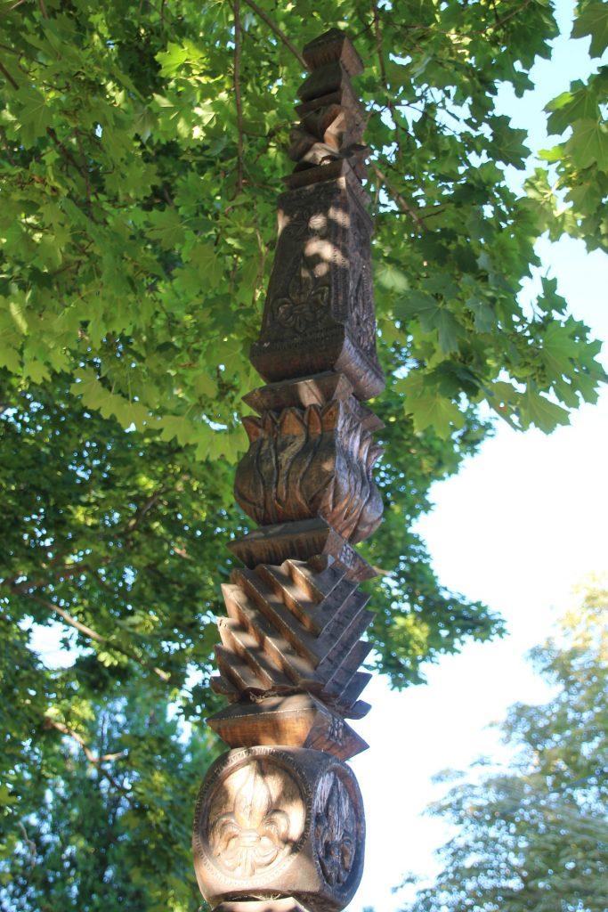 Történelmi emlékpark - A nagymegyeri cserkészmozgalom újjászervezésének 10. évfordulójára állított kopjafa