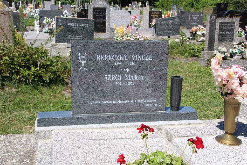 Bereczky Vince, az utolsó csallóközi aranyász sírja