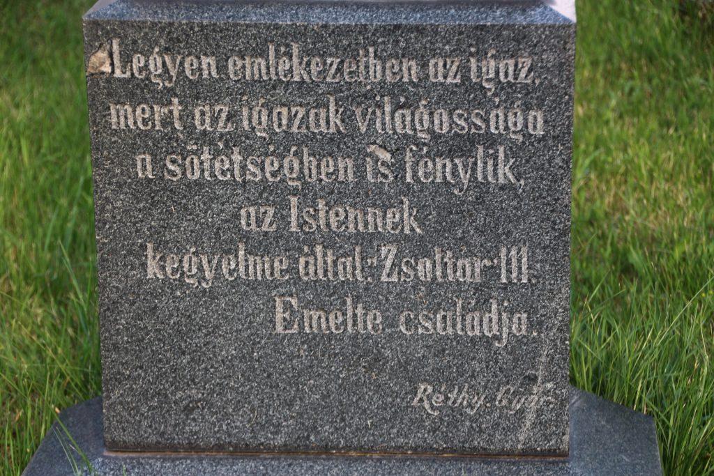 Závory Elek református lelkész sírja