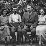 Tantestület 1953/54-ben: balról Bordán Józsefné, Bordán Katalin, Rancsó Dezsó gondnok, Herdics János igazgató, Füssy Emma, Bordán Magda