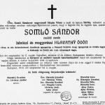 Somló Sándor gyászjelentése