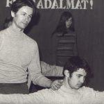 Molnár Imrével, Balassagyarmat, 1974