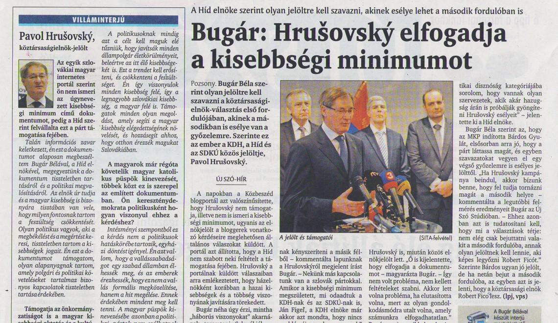 Nem kell a félelemkeltés – Nyílt levél Bugár Bélának