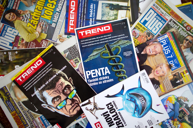 Trend, Plus 7 dní, Sme, Új Szó – a Penta az utóbbi hetekben alaposan bevásárolt