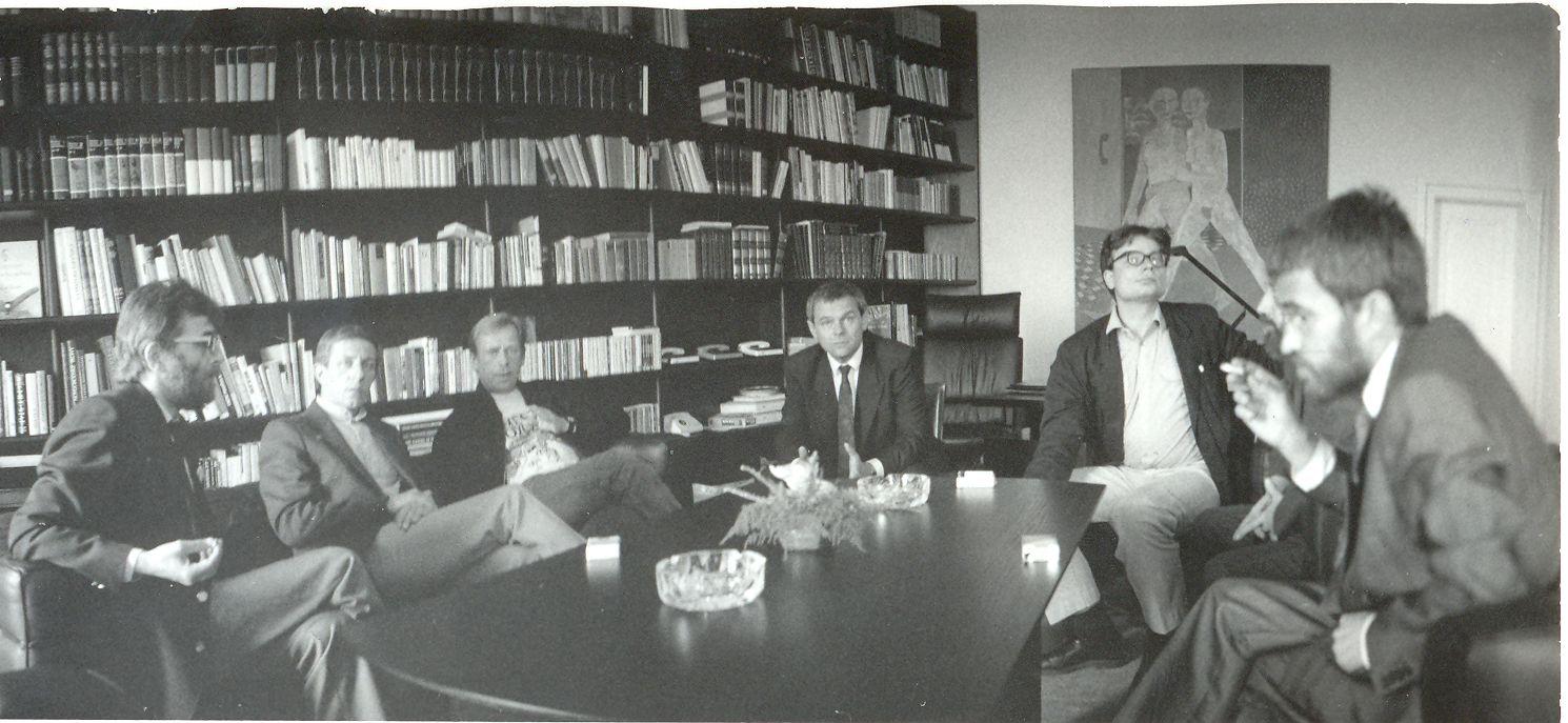 Václav Havelnél 1990 tavaszán, Foto: Gyökeres György (adatbank.sk)