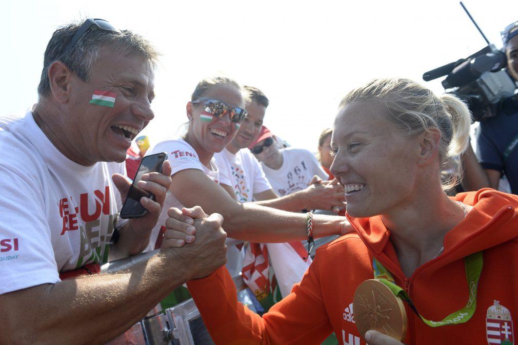 Kozák Danuta három aranyat nyert. (MTI-felvétel)