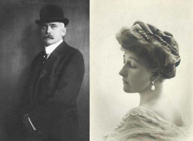 Gróf Elemér Lónyay s manželkou princeznou Štefániou