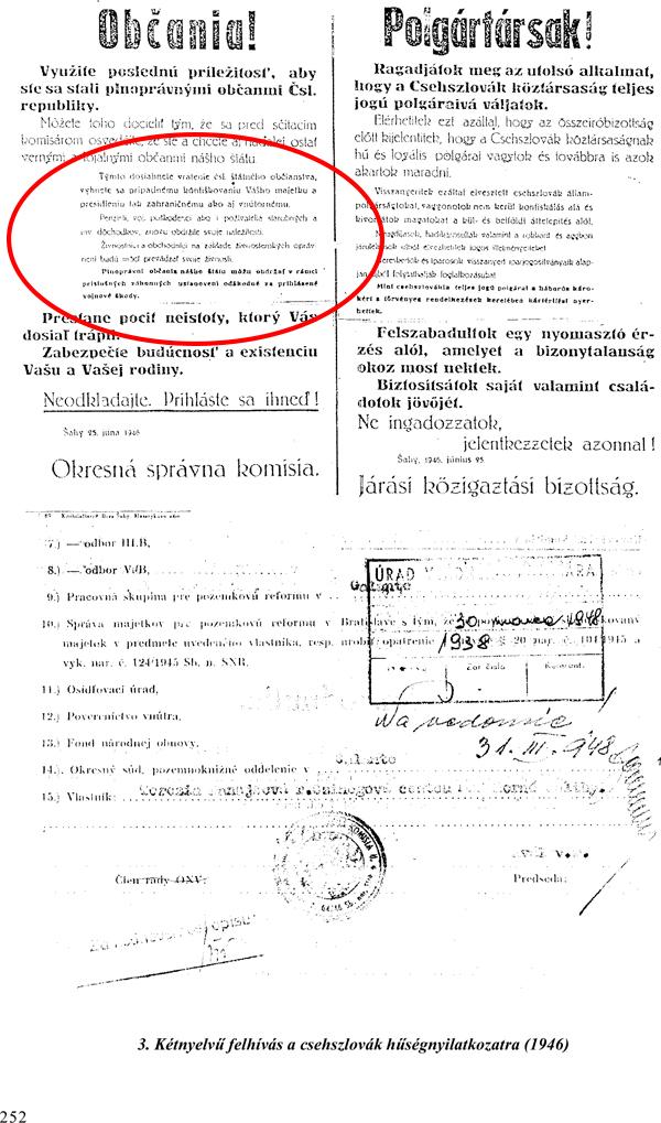 4. Dvojjazyčná výzva na vyhlásenie vernosti Československu (1946)