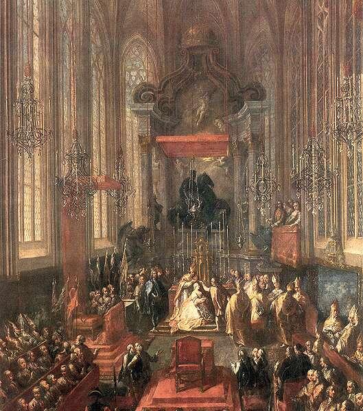 Korunovácia Márie Terézie v Dóme sv. Martina