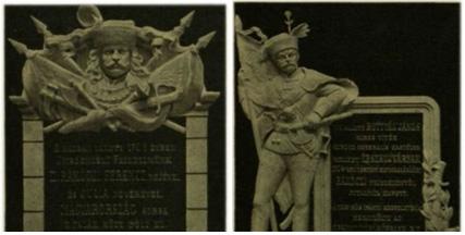 tabuľa Ferenca II. Rákócziho (na obrázku len detail), bola kedysi umiestnená na stenu Arcibiskupského paláca, kde sa sám Rákóczi určitý čas zdržiaval. Potom ako československá vláda prevzala moc, tabuľa bola zničená. Pamätná tabuľa Jánosa Bottyána, bola umiestnená na stenu Ľudovej banky (na obrázku len detail). Obe tabule boli slávnostne odhalené 17. júna 1906 na 200-sté výročie  Rákócziho boja za slobodu.