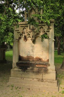 Náhrobný kameň Karola Jettinga na Ondrejskom cintoríne v Bratislave