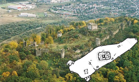 Pôdorys šarišského hradu