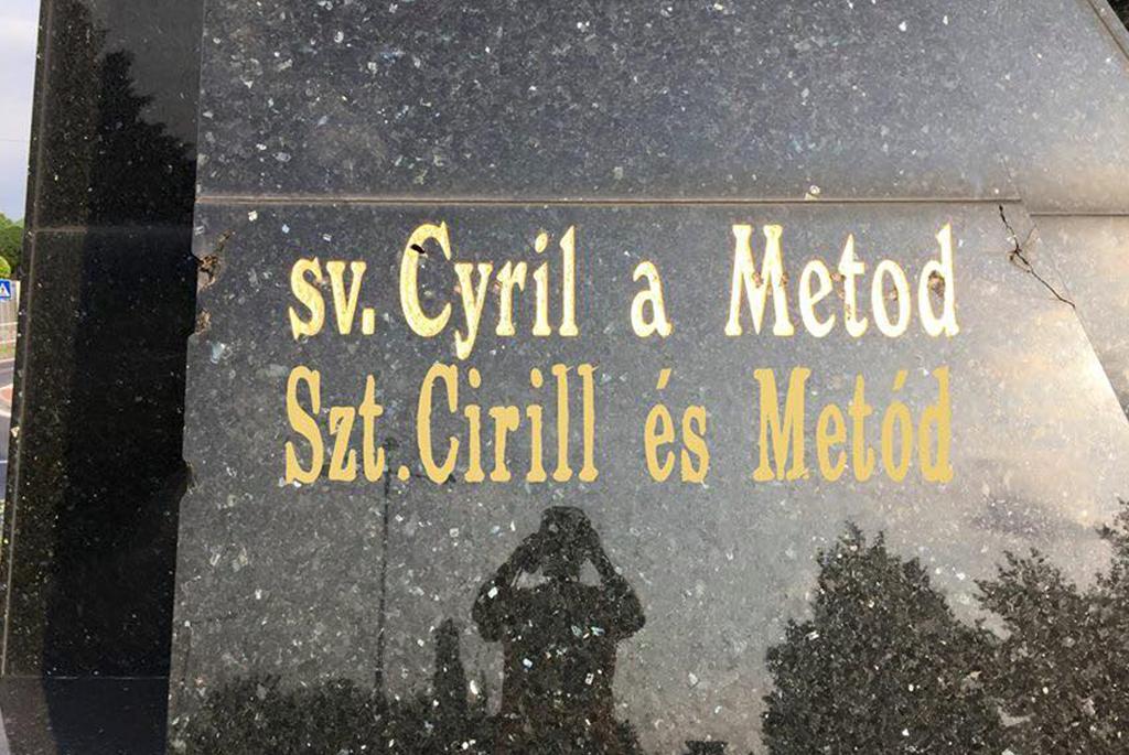 sochy Cyrila a Metoda v Komárne