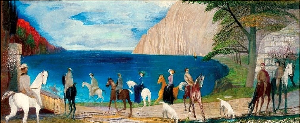 Tengerparti sétalovaglás / Jazda na koni pri mori (1909).