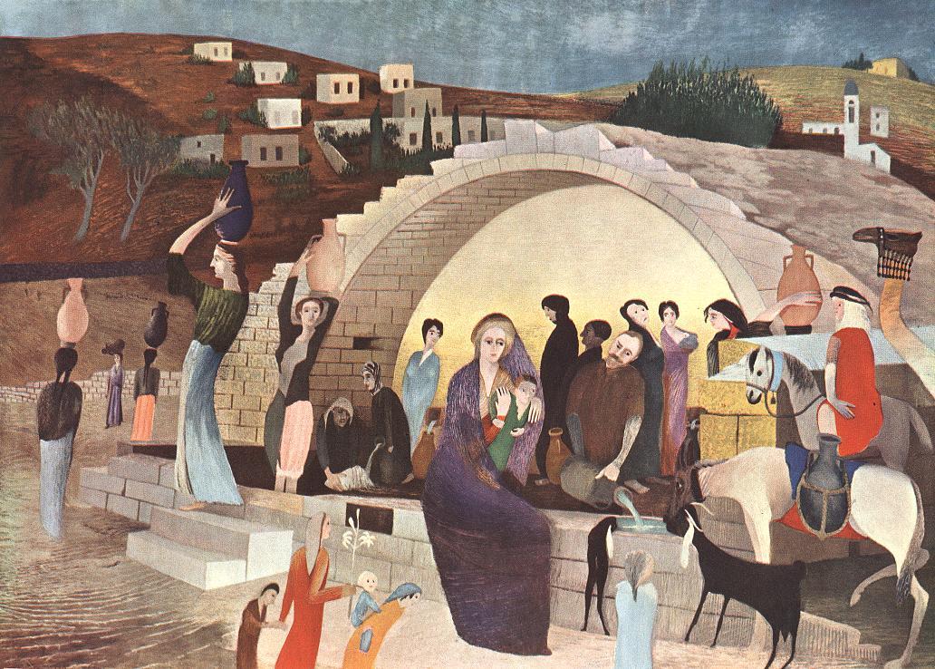 Mária kútja Názáretben / Máriina studňa v Nazarete (1908).