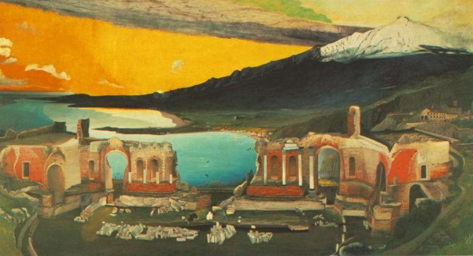 Görög színház romjai Taorminában / Ruiny gréckeho amfiteátra v Taormine (1904-1905).