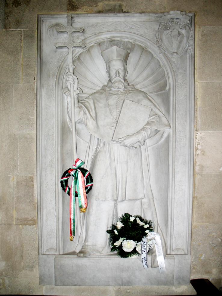 Reliéf Petra Pázmana v Katedrále sv. Martina v Bratislave.
