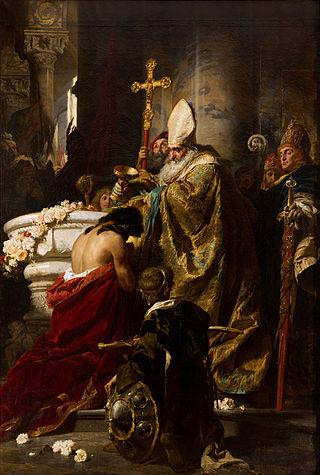 Benczúr,_Gyula_-_The_Baptism_of_Vajk_-_Google_Art_Project