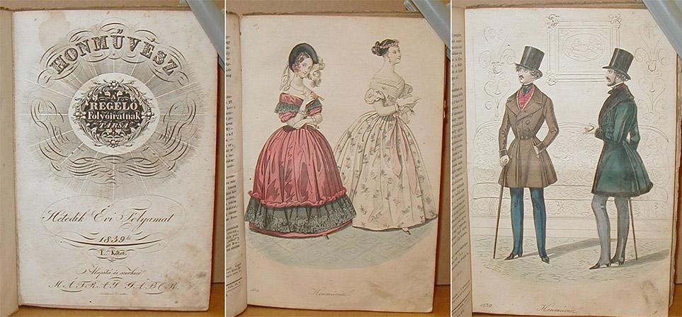 Časopis Honművész (Január/1839). Edícia: Gábor Mátray
