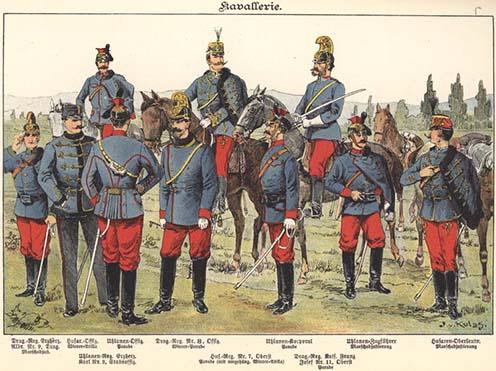 Cisárske a kráľovské jazdectvo v roku 1898.