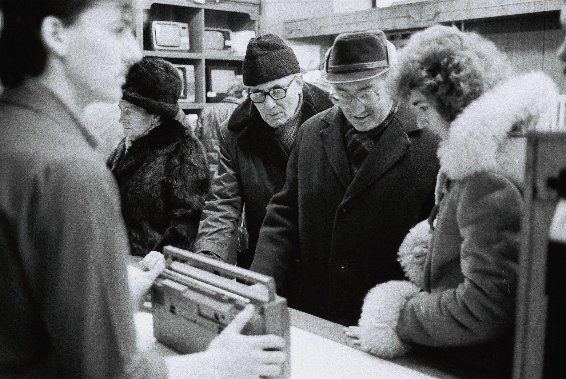 Nakupovanie rádia na Vianoce, Debrecín, 1988.